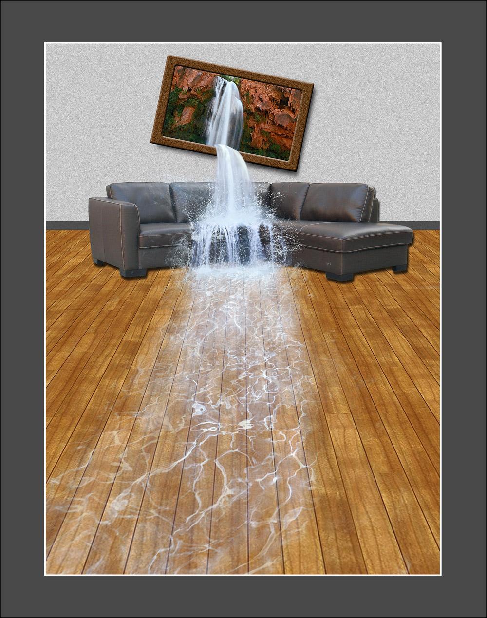创意合成沙发流水效果