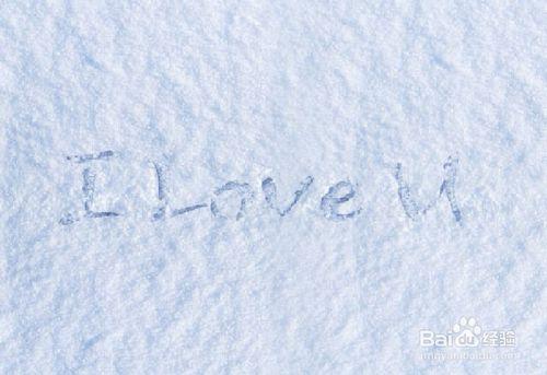 怎么用PS模拟出在雪地上写字的效果,PSDEE.COM