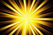 Photoshop制作漂亮的金色放射背景