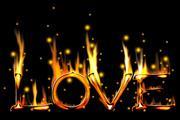 PS打造超酷的爱情燃烧字