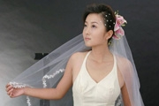 PS通道选区抠出透明的婚纱