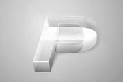 PS打造透视玻璃立体字