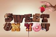 打造香脆巧克力糖果立体字