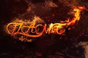 利用纹理制作绚丽的火焰立体字