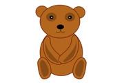 PS鼠绘一只棕色的卡通小熊