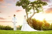 PS打造大气唯美的夕阳婚纱照