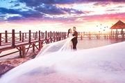 PS打造霞光中的大气海景婚片