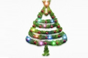 PS制作挂满彩灯的圣诞树