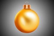 PS绘制漂亮的金色圣诞球