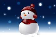 PS鼠绘漂亮的圣诞雪人