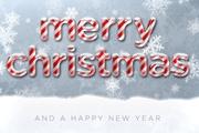 PS打造甜美的圣诞糖果积雪字