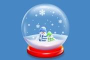 PS制作漂亮的圣诞雪花水晶球
