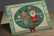 PS制作针织效果圣诞卡片  