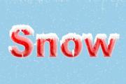 PS制作简单的积雪字效果