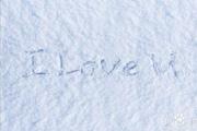 PS模拟出在雪地上写字的效果