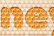 PS打造甜蜜可爱的蜂窝水晶字