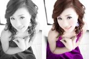 PS给美女黑白照片添加色彩
