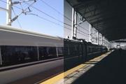 PS调出低饱和度火车站风景效果