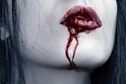PS给美女嘴角添加流血非主流恐怖效果