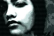 PS制作非主流艺术风格网纹女生头像