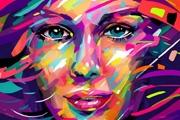 PS轻松打造非主流抽象艺术女生头像