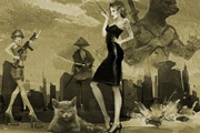PS鼠绘怀旧的电影海报