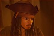 戴帽男女青年以及知性美女与杰克船长插画欣赏